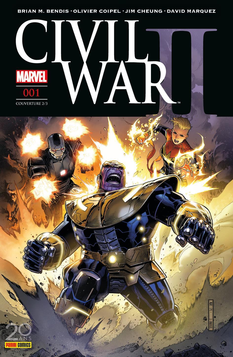 CIVIL WAR II 1 (Couv 2/3)