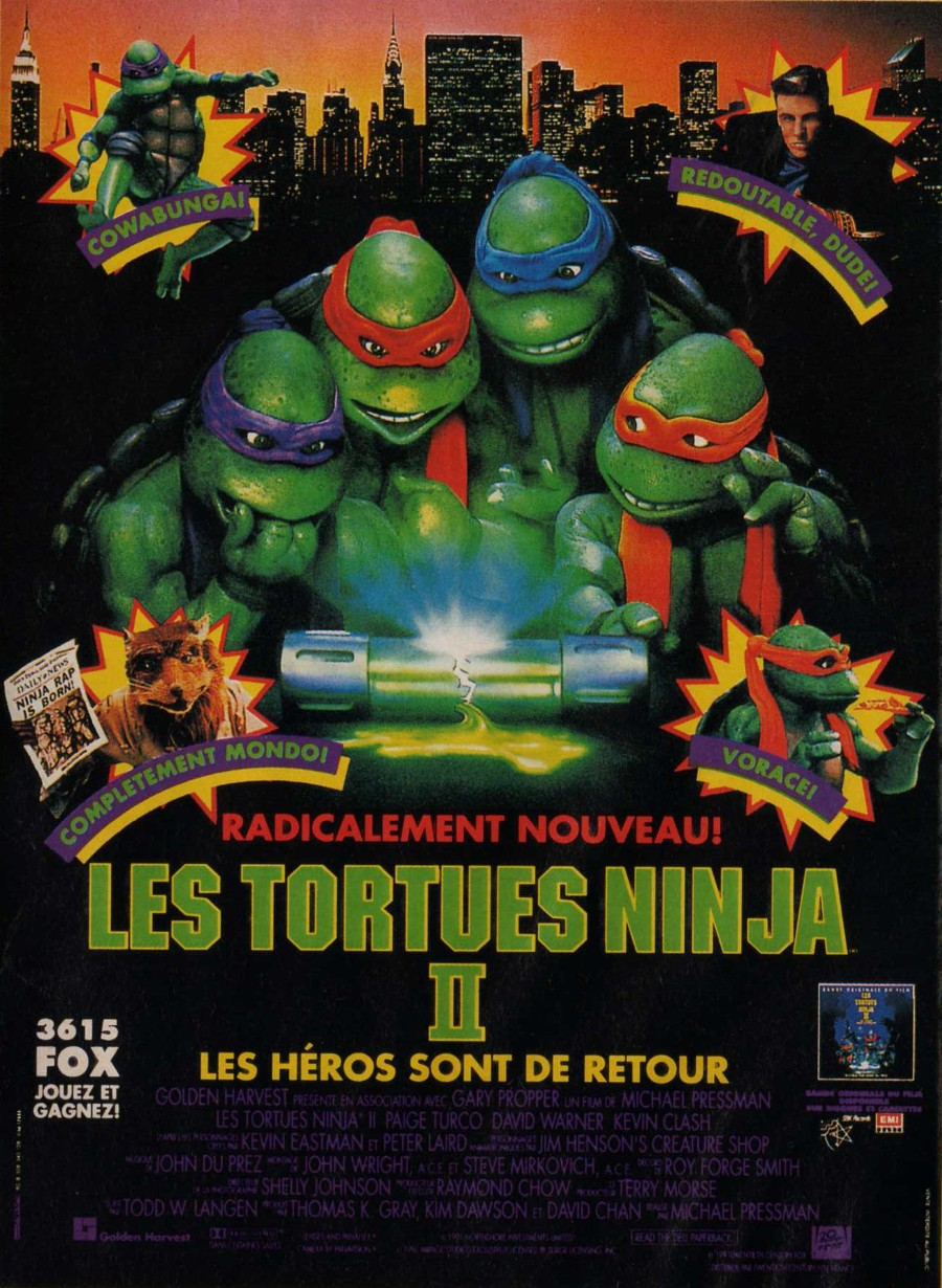 Les tortues ninjas 2 le secret de la mutation film - Le rat des tortue ninja ...