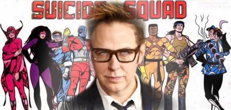 La Suicide Squad de Gunn en costume sur le tournage