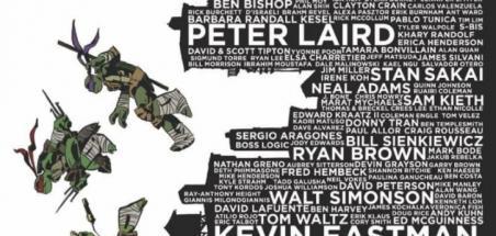 Une variant cover de TMNT #100 rend hommage aux artistes