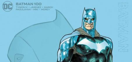 Nouveau costume bleu flashy pour Batman #100