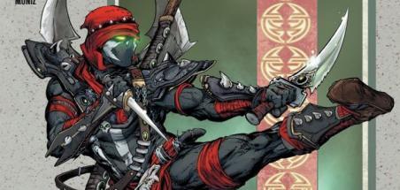 Todd McFarlane présente Ninja Spawn sur une variante de Spawn #310