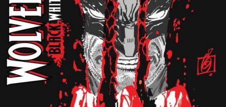 Wolverine déchire la couverture de Black, White & Blood #1