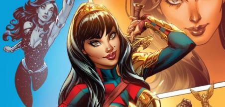 Une couverture variante de J. Scott Campbell pour Wonder Girl #1
