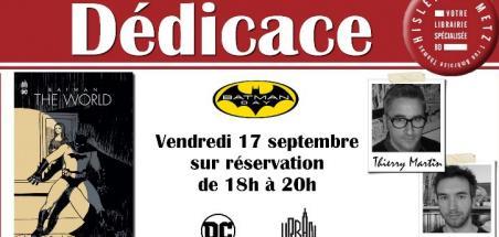 Dédicace pour la sortie de Batman: The World à Hisler BD Metz