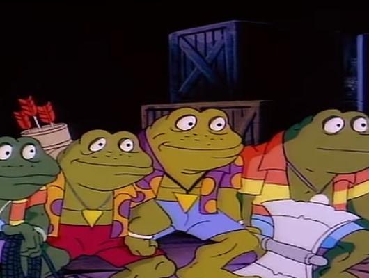 L'invasion des grenouilles