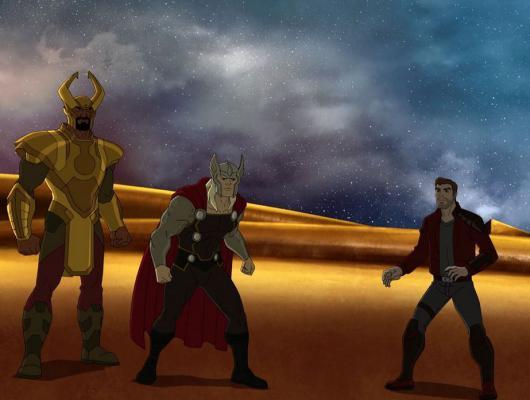 La guerre contre Asgard, partie 1: La foudre frappe